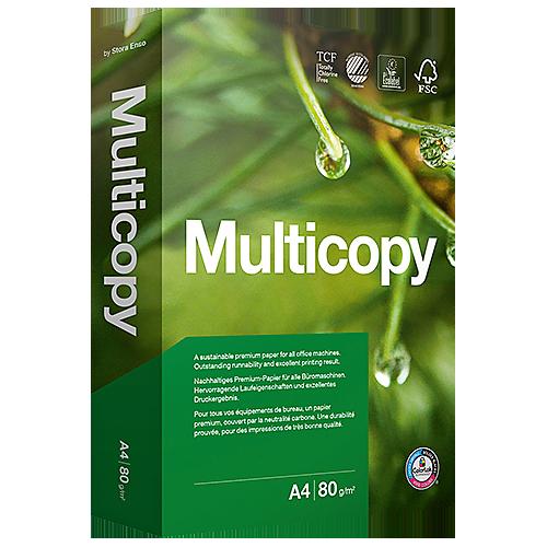 Kopieringspapper Multicopy A4 ohål 80 g 500/fp