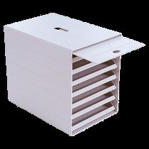 Blankettbox Idealbox Plus ljusgrå