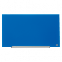 Glastavla Nobo Glas 31 tum 680x380 mm blå