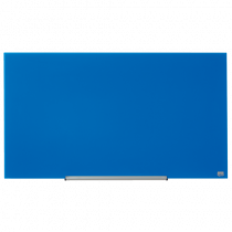 Glastavla Nobo Glas 45 tum 1000x560 mm blå