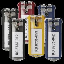 Nyckelbrickor Key Clip blandade färger 6/fp