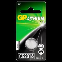 Knappcellsbatteri GP Litium CR2016