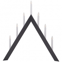 Ljusstake Arrow 7 ljus hög Grå