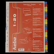 Plastregister KEBAdivider Executive A4+ 1-20