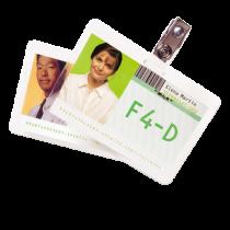 Lamineringsfickor Badge 125 mic 100/fp