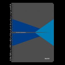 Anteckningsbok Leitz Office A4 rutat blå