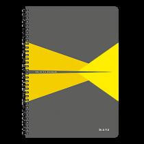 Anteckningsbok Leitz Office A4 linjerat gul
