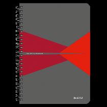 Anteckningsbok Leitz Office A5 linjerat röd