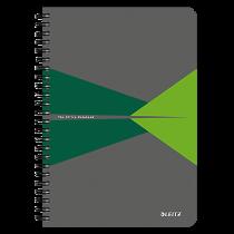 Anteckningsbok Leitz Office A5 linjerat grön