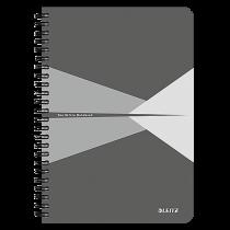 Anteckningsbok Leitz Office A5 linjerat grå
