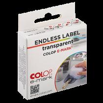 Etiketter på rulle Colop e-mark transparenta