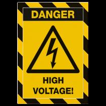 Magnetisk inforam Duraframe Security gul/svart 5/fp