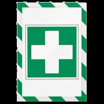 Magnetisk inforam Duraframe Security grön/vit 5/fp