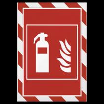 Magnetisk inforam Duraframe Security röd/vit 5/fp