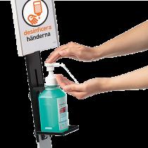 Hygienställ med skylt Durable 295x1464x275 mm