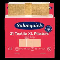 Textilplåster Salvequick XL 6 refiller/fp