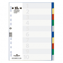 Plastregister Durable XL 1-10