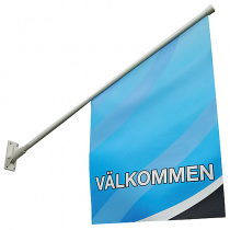 Fasadflagga Välkommen