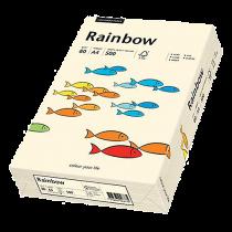 Färgat papper Rainbow A4 80 g creme 500/fp
