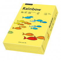 Färgat papper Rainbow A4 120 g gul 250/fp
