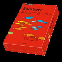 Färgat papper Rainbow A4 160 g intensivröd 250/fp