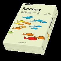 Färgat papper Rainbow A4 120 g ljusgrön 250/fp