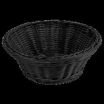 Brödkorg rund 23 cm svart