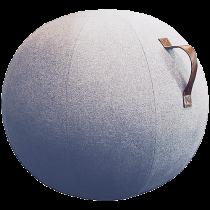 Balansboll Design Jobout ljusgrå filt