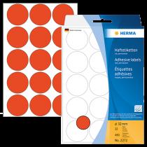 Märketiketter Herma diameter 32 mm röd 480/fp