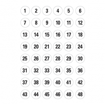 Etikett 1-240 Ø12 240/fp