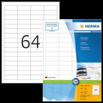 Etiketter Herma Premium 48,3x16,9 mm 6400/fp