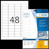 Avtagbara etiketter Herma 45,7x21,2 mm 1200/fp