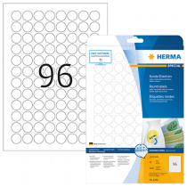 Avtagbara etiketter Herma Ø 20 mm 2400/fp