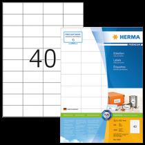 Etiketter Herma Premium 52,5x29,7 mm 4000/fp