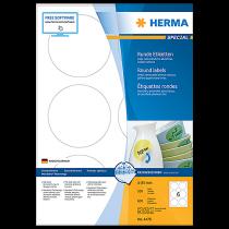 Avtagbara etiketter Herma diameter 85 mm 600/fp