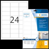 Utomhusetiketter Herma 63,5x33,9 mm 240/fp