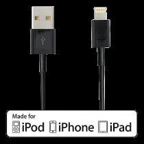 Kabel USB-A till Lightning Deltaco svart 2 m