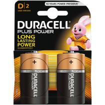 Batteri Duracell Plus Power LR20 D2 2/fp