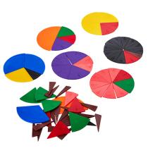 Fraktionscirkelset 10st fraktioner 10cm i diameter