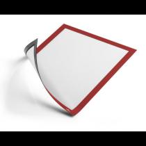 Magnetram självhäftande Duraframe A4 röd 2/fp