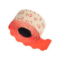 Prismärkningsetikett 32x19 G2 röd fluor 5000st/fp