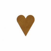 Etikett Hjärtan Guld 22x25 1000st/rl
