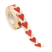 Etikett Hjärtan Röd 22x25 1000st/rl