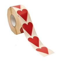 Etikett Hjärtan Röd 26x42 1000st/rl
