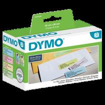 Färgade etiketter Dymo LabelWriter 89x28 mm 4/fp