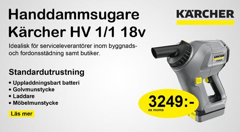 KPsyd Handdammsugare Kärcher HV 1/1 18v