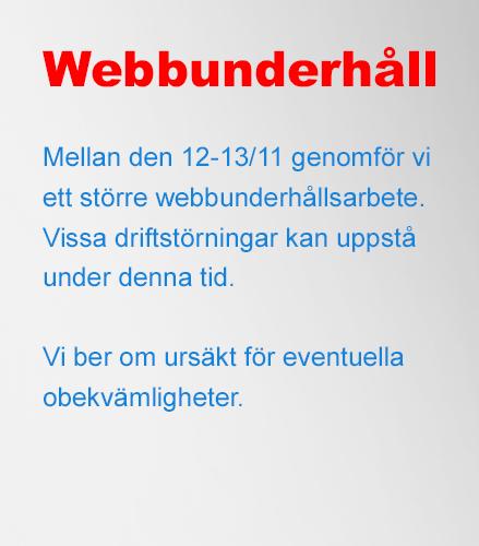 Webbunderhåll